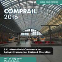 15th  International Conference on Railway Engineering Design and Operation – COMPRAIL 2016