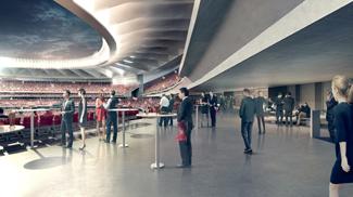 New Atlético de Madrid Wanda Metropolitano stadium