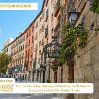 Vote for Madrid at the European World Travel Awards