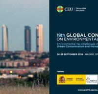 "La 19ª ""Global Conference on Environmental Taxation"", en Madrid del 26 al 28 de septiembre"