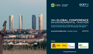 "La 19ª ""Global Conference on Environmental Taxation», en Madrid del 26 al 28 de septiembre"