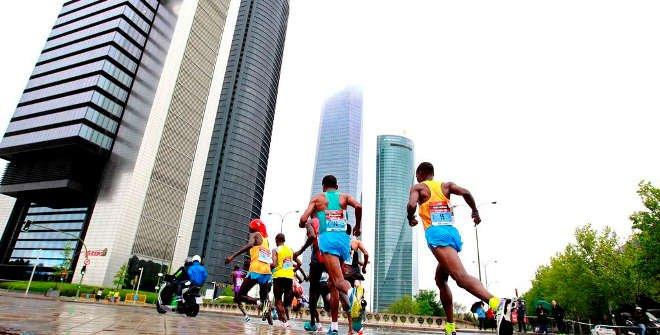 Maratón de Madrid 2015. Cuatro Torres Business Área