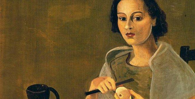 Andre Derain, Jeune femme pelant une pomme, 1938-1939