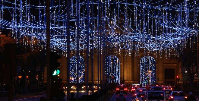 Luces de Navidad 2017-2018 Puerta de Alcalá (Madrid)