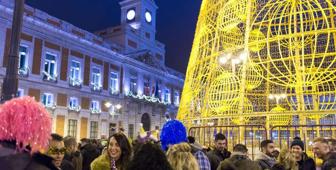 Christmas in madrid for Puerta del sol nochevieja 2016
