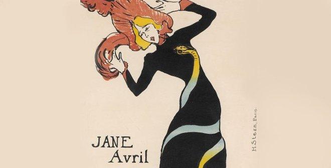 Toulouse-Lautrec. Jane Avril, 1899. Imagen cortesía del Musee d' Ixelles