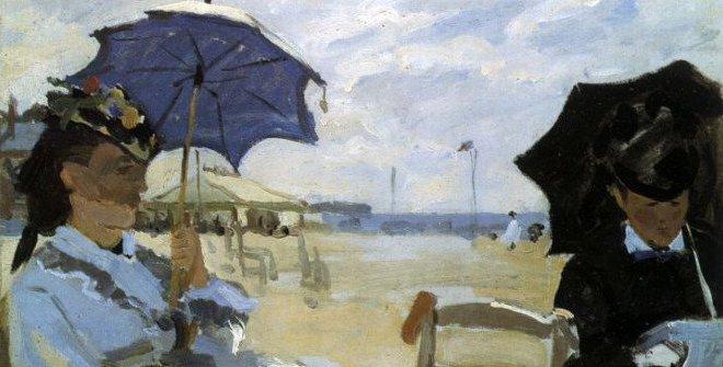 Claude Monet. La playa en Trouville, 1870. Londres, National Gallery