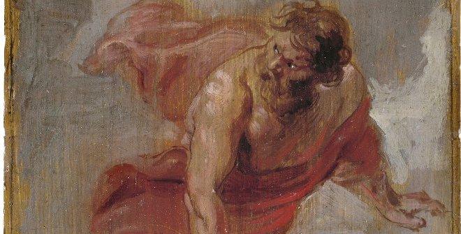 Prometeo, 1636 - 1637. Óleo sobre tabla, 25,7 x 16,6 cm.