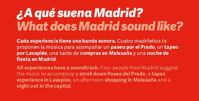 Folleto ¿A qué suena Madrid?