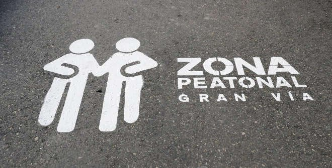 Zona peatonal Gran Vía