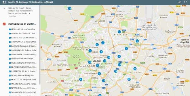 Mapa Madrid 21 Destinos