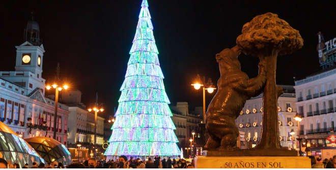 Árbol de Navidad 2020 de la Puerta del Sol © Álvaro López del Cerro