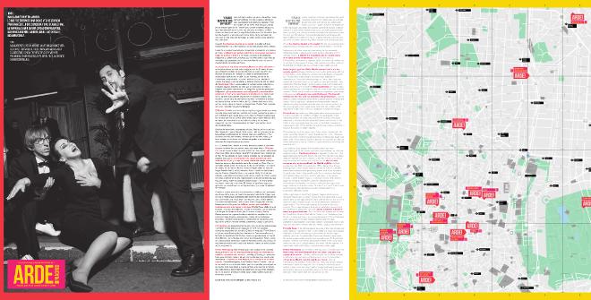 Folleto Arde Madrid: ruta y mapa para conocer los escenarios de la serie de Movistar+