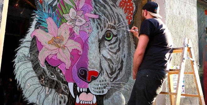 Arte urbano en Madrid - Pinta Malasana