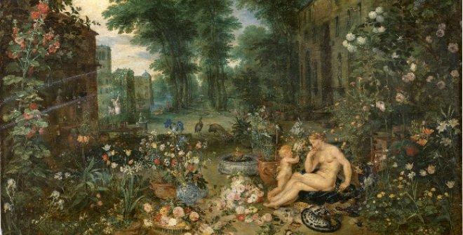 """El olfato. Jan Brueghel """"El Viejo"""" y Rubens. 1617-1618. © Museo Nacional del Prado."""