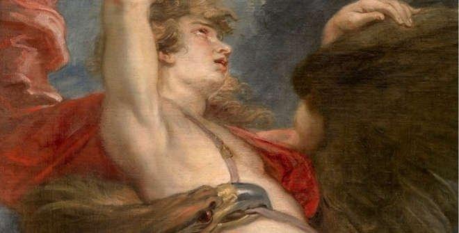 El rapto de Ganímedes (Detalle). Pedro Pablo Rubens, 1636-1638. Museo del Prado.