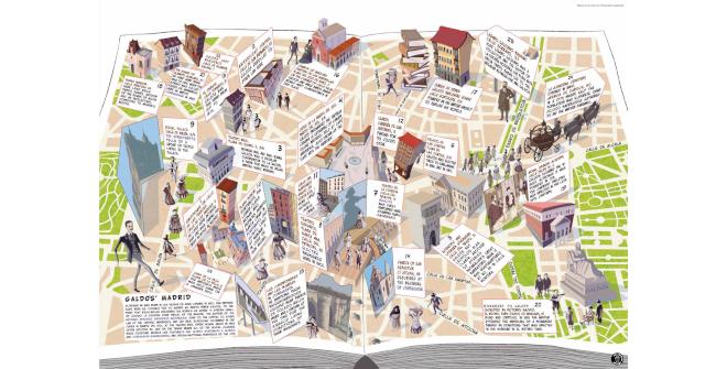 Galdós' Madrid. An ilustrated cultural map