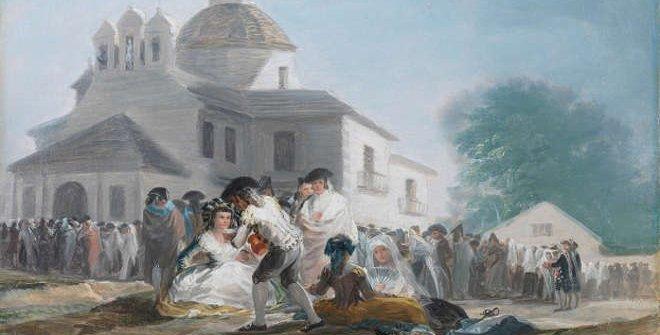 La ermita de San Isidro el día de la fiesta. (Detalle). 1788. Francisco de Goya. Museo del Prado.