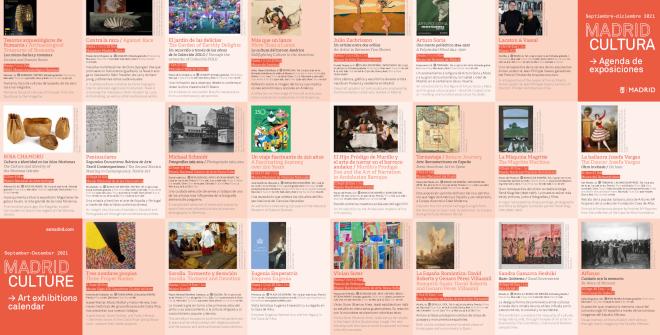Folleto Madrid Cultura / Agenda de exposiciones septiembre - diciembre 2021 (PDF)