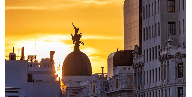 Madrid mitológico. Ganímedes sobre el ave Fénix.