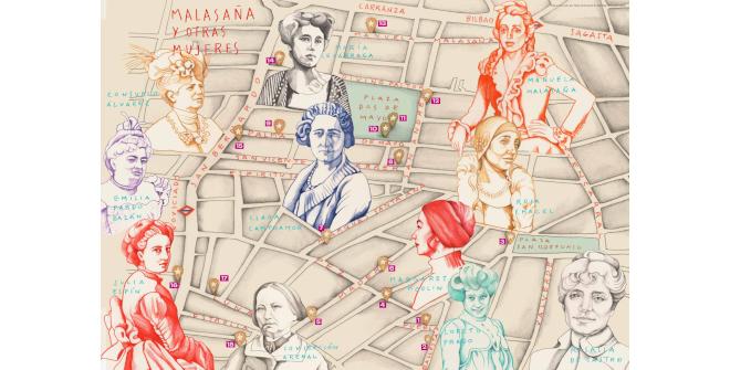 Mapa cultural ilustrado Malasaña y otras mujeres (PDF)