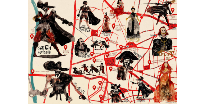 Mapa cultural ilustrado El Madrid de Alatriste