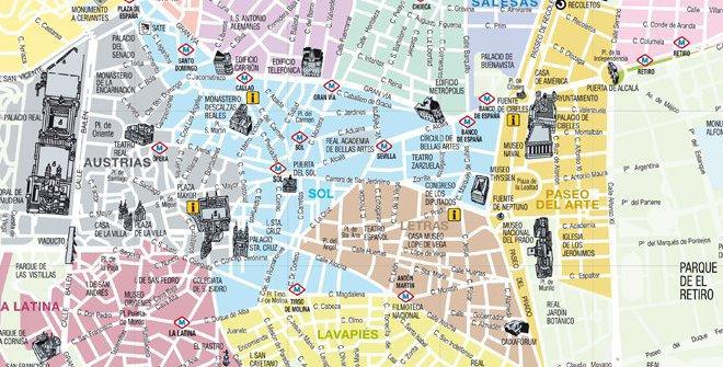 Mapa Madrid 2011 Color A F Marco