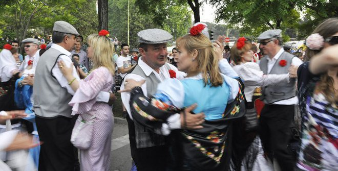 Chulapos en Fiestas de San Isidro