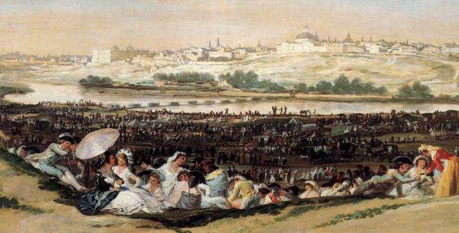 La pradera de San Isidro. Goya.