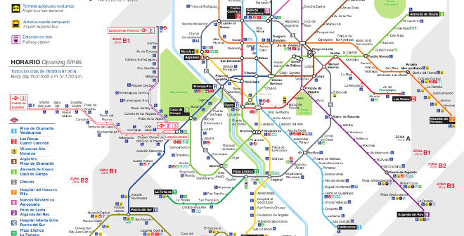 Karta Barcelona Metro.Madrid Metro Map