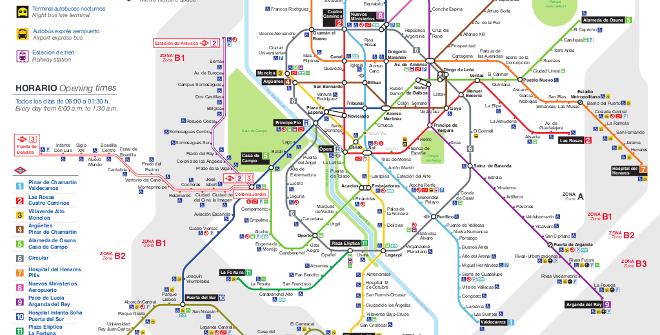 Plano Metro de Madrid. Actualizado 1 diciembre 2018