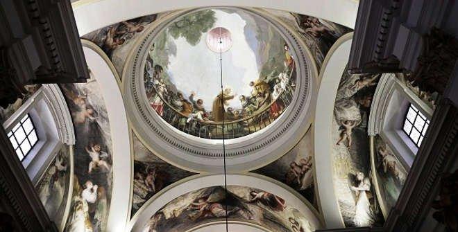Frescos de Goya en la ermita de San Antonio de la Florida