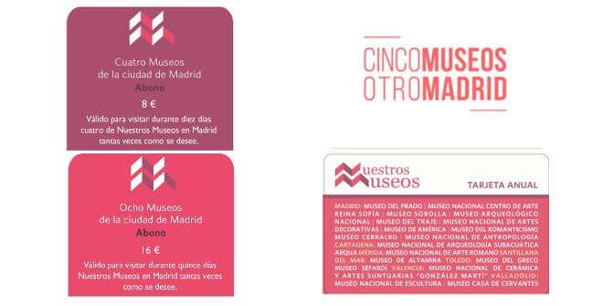 Tarjetas turísticas para Museos estatales de Madrid