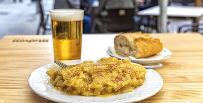Todo un clásico: la tortilla de patata de Sylkar (© Álvaro López del Cerro).