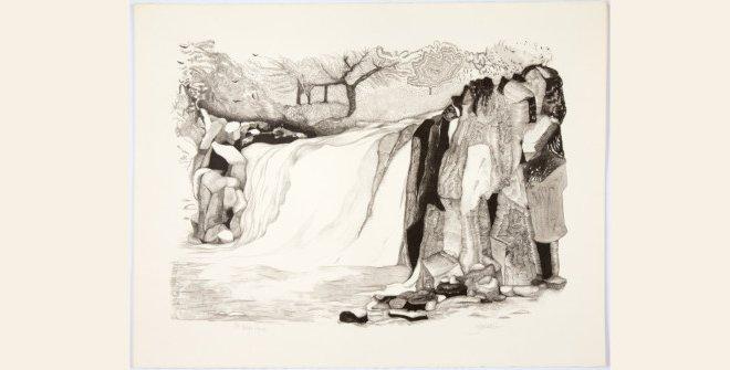 Paisaje tropical: Litografía. 1982.