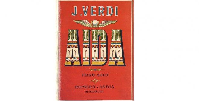 Aida: ópera en cuatro actos de J. Verdi. Música impresa, ca. 1888