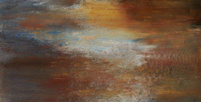Alberto Reguera. Recorridos lumínicos, 2020. Técnica mixta sobre lienzo.150 x 220 x 8 cm. Colección del artista
