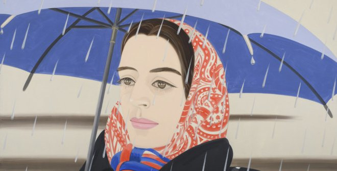 Alex Katz. Blue Umbrella. 1972. Óleo sobre lienzo. 244 x 366 cm. Peter Blum NYC