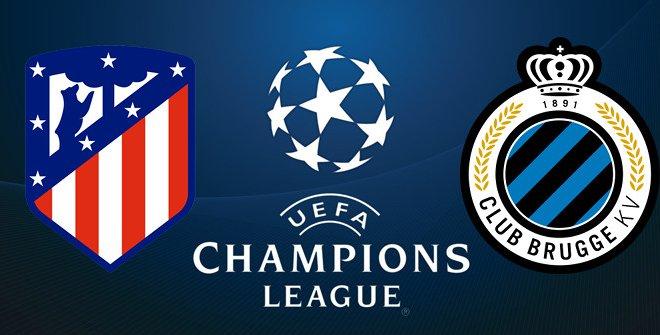 Atlético de Madrid - Club Brujas (UEFA Champions League. Fase de grupos)
