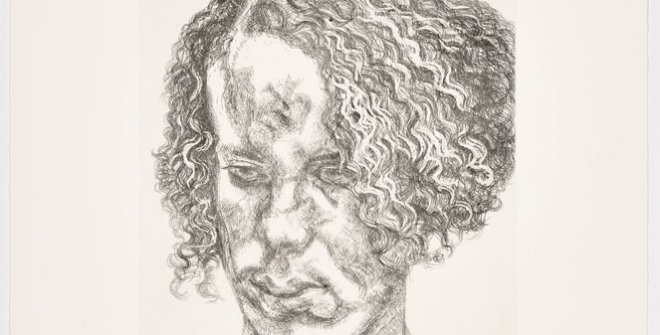 Freud, Girl with Fuzzy Hair, 2004 © The Lucian Freud Archive. Bridgeman Images
