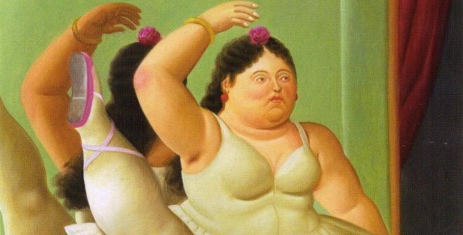 Fernando Botero - Bailarina en la barra, 2001