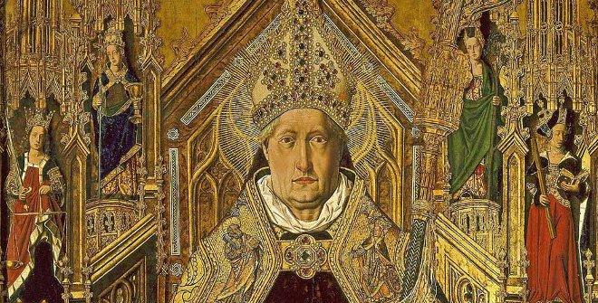 Bartolomé Bermejo, Santo Domingo de Silos entronizado como obispo