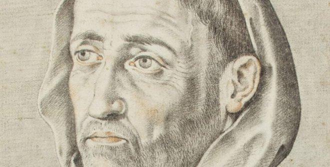 Francisco Pacheco:Retrato de Fray Luis de León. DelLibro de descripción de verdaderos retratos, de illustres y memorables varones. © Biblioteca Lázaro Galdiano