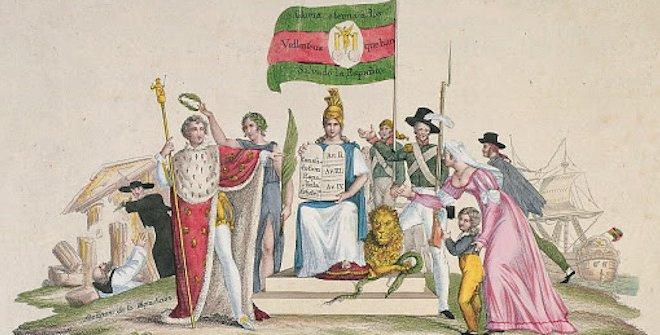 Alegoría de la jura de la Constitución por Fernando VII, ca.1820. Museo de Historia de Madrid, Inv. 2129