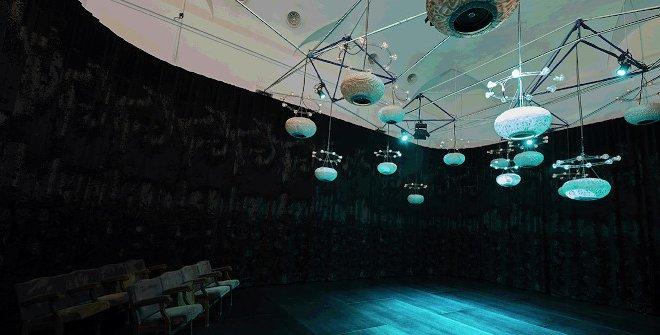 Vista de la exposición Niño de Elche. Auto Sacramental Invisible. Una representación sonora a partir de Val del Omar, 2020