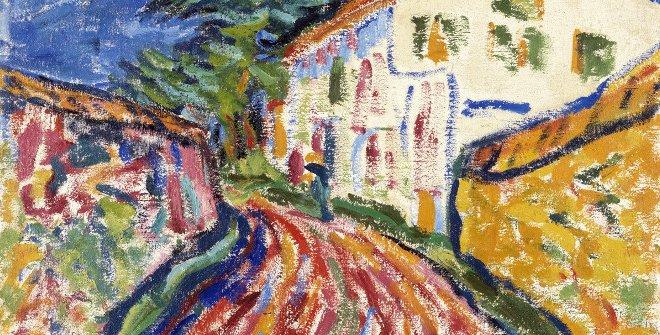 Erich Heckel. Casa en Dangast (La casa blanca), 1908. Óleo sobre lienzo. 71 x 81 cm © VEGAP, Madrid