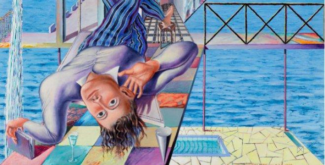 Éxtasis en la siesta, 1979. Acrílico/lienzo, 100 x 100 cm. Colección Suñol Soler / Fundació Suñol, Barcelona. © Guillermo Pérez Villalta. VEGAP, Madrid 2021