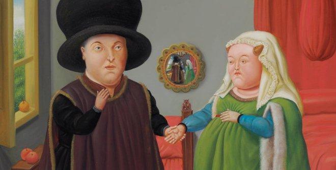 Fernando Botero - The Arnolfini según Van Eyck, 2006