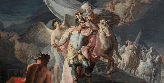 Francisco de Goya,Aníbal vencedor que por primera vez mira Italia desde los Alpes(1771). Óleo sobre lienzo. Museo Nacional del Prado, cat. P8313. Donación de la Fundación Amigos del Museo del Prado, 2020