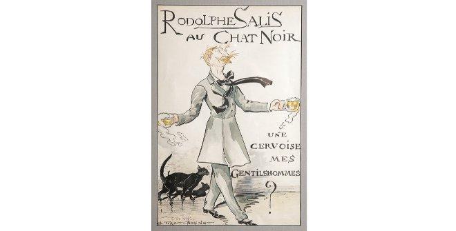 Georges Tiret-Bognet, Caricatura de Rodolphe Salis en el Chat Noir, c. 1890.